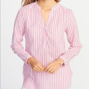 OLD NAVY Pink and White Striped Tunic XXL Tall NWT